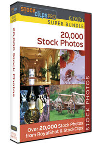20,000 Stock Photos - 6 DVD Super Bundle 6 DVDs by StockClip Pro $1600 Value!
