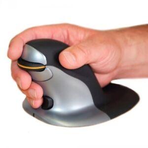 Posturite Penguin Ambidextrous Vertical Mouse - Laser - Wireless - Radio