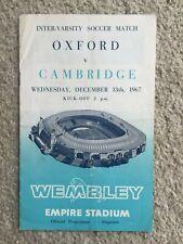 Oxford v Cambridge Inter Varsity Soccer Football Match 13th December 1967