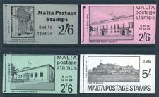 Malta 1970-1 set 4 stamp booklets selvedge at top of panes mint 2017/08/04#11)
