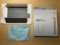 Official SONY PlayStation 2 Silver Vertical Stand SCPH-10040 PS2 Fat Boxed #155