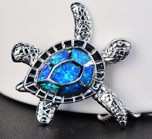 Necklace Sea Turtle Pendant Silver Chain Jewelry Sterling Tortoise Charm 925 New