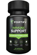Fortify Supplements - Immune System Booster With Elderberry 800mg Vitamin C 60ct