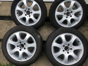 "Mercedes refurbished set 16"" alloy wheels, 2 new tyres, CLK, SLK, C Class W209"