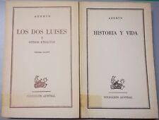 """Pack 2 Libros: """"Historia Y Vida"""" Y """"Los Dos Luises Y Otros..."""" -Azorín ('61-'62)"""