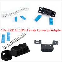 5 Pcs OBD2 16Pin Female Connector Cable OBDII Car Auto Adapter Plug J1962 Shell