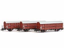 Liliput L260135 - Güterwagen-Set Verschlagwagen Bauart Hbes 358 DB Ep.IV 3x
