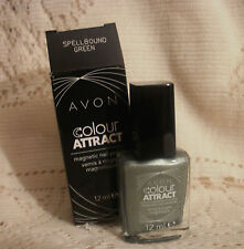 AVON COLOUR ATTRACT MAGNETIC NAIL POLISH ~ SPELLBOUND GREEN ~ 12ml ~ NEW
