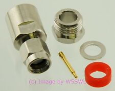 SMA Male Clamp Coax Connector for RG-58 2-Pack - by W5SWL ®
