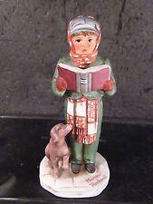 "Norman Rockwell 1973 Grossman Nr-3 1979 The Caroler Boy & Dog 5 1/2"" Figurine"