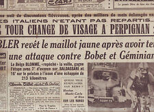 journal  l'équipe  du 27/07/50 CYCLISME TOUR DE FRANCE 1950 BLOMME KUBLER