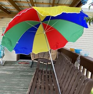 Beach Umbrella with Sand Anchor by Shaw Creations