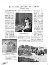 Carte camps de prisonniers délégués Croix-rouge camions WWII 1941 ILLUSTRATION