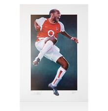 Thierry Henry Signed Arsenal Art Print - Jumping Celebration, Limited Edition of