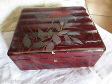 BOX BOITE A BISCUITS COUTURE/THE SUZURIBAKO JAPON  BOIS LAQUE SIGNE