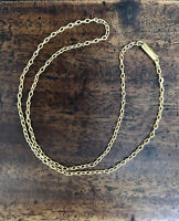 Antique Art Deco1920s 10ct solid gold chain 15 inch