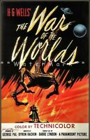 War Of The Worlds 1953 HG Wells Movie Vintage Poster Print Retro Style Film Art