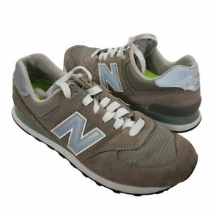 New Balance 574 Women's Gray Suede Running Shoes Athletic Sneakers Size 9.5 B