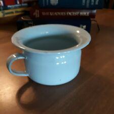Vintage Robins Egg Blue Childs Chamber Pot Enamel Potty Porcelain Krueger N.Y.