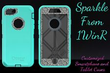 "Otterbox Defender Series Custom Glitter Case for 4.7"" iPhone 7 Teal/White Gold"