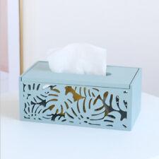 Hollow Wooden Tissue Box Holder Cover Rectangular Napkin Paper Holder for Home