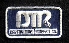 "DAYTON TIRE RUBBER EMBROIDERED SEW ON ONLY PATCH AUTO CAR OKC 3 1/2"" x 2"""