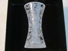 "MICHAEL WEEMS ELISE COLLECTION 2005 FROSTED MODERN ART 8 1/4"" GLASS VASE, NEW"