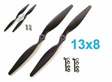 "2pcs 13x8"" 330x203mm Slow Flyer Electric Propeller with Adapters, US 001-00313"