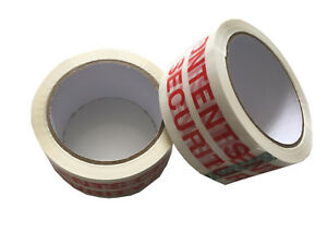 """High Strength """"CONTENTS CHECKED & SECURITY SEALED"""" Packing Tape 48mm x 66m"""