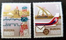 Malta Europa CEPT History Post 1979 Airplane Telecommunication Ship (stamp) MNH