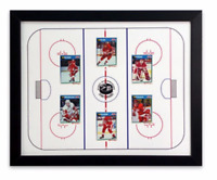Hockey Sports Display Board: Trading Card Sports Field Frame 18x22
