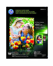"""HP Everyday PHOTO PAPER 60 Glossy Sheets 5"""" x 7"""" 53 lb CH097A Inkjet Printers"""