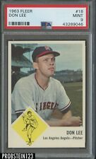 1963 Fleer #18 Don Lee Angels PSA 9 MINT CENTERED