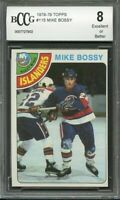 1978-79 topps #115 MIKE BOSSY new york islanders rookie card BGS BCCG 8