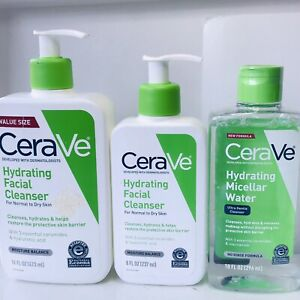 2 CeraVe Hydrating Cleanser Facial Cleanser+ 1 CeraVe Hydrating Micellar Water