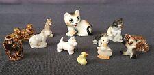 Lot of 13 Vintage Animal Figurines Bone China Porcelain Miniature