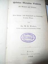 12220 Weber Quintus Horatius Flakkus als Mensch und Dichter Eine Schutz Trutz