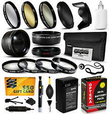 Battery + Charger + Filters + Accessories for Canon Powershot SX50 SX40 HS