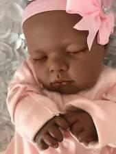 Adorable Reborn Baby Girl Lotty AA Ethnic Newborn Closed Eyes Soft Scented Vinyl