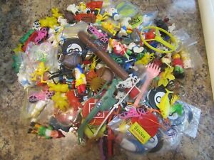 Vintage Tiny Toy Lot Junk Drawer Odd Pieces Bubble Gum Vending Charms Hong Kong