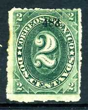 Mexico 1882 Foreign Mail Small Numeral 2¢ Green Hermosillo  G255