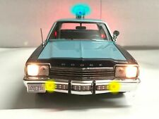 TROOPER 1974 Dodge Monaco MASSACHUSETTS State Police 1/18 WORKING LIGHTS