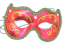 HALLOWEEN MASK Red Debutante Costume Party Sexy Fun Party Mardi Gras A-10
