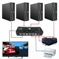 New 4-Port USB 2.0 KVM Switch Mouse/Keyboard/VGA Video Monitor 200MHz 1920x1440