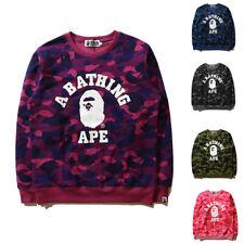 Bape A Bathing Ape Men's Camo Hoodie Pullover Sweatshirt Casual Long Sleeve Coat