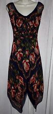 ANNA SUI FOR ANTHROPOLOGIE Silk Roses Light & Airy Dress Sz 4 *VERY RARE*