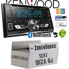 Kenwood Radio Pour Seat Ibiza 6j gris foncé Autoradio Bluetooth USB Apple Android