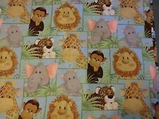 JUNGLE BABIES fabric JUNGLE BABIES PATTY REED PATCHWORK cotton fabric BTY NEW