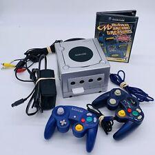 Nintendo Gamecube DOL-001 Bundle - 2 Controllers, Cords, Game, Memory Card