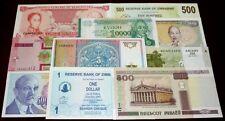 Uzbekistan, Turkmenistan, Venezuela...LOT x 10 notes UNC